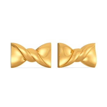 Bow Bends Gold Earrings