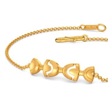Rebel Bows Gold Bracelets