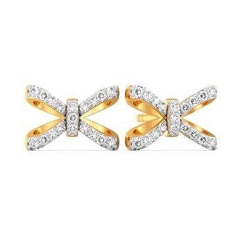 Theme of Bow Diamond Earrings