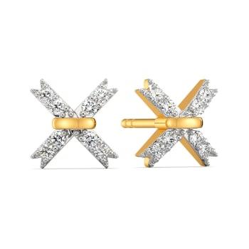 Disco Ribbons Diamond Earrings