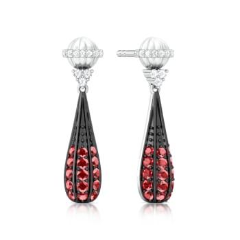 Lady in Red Diamond Earrings