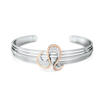 Serpentine Ruffle Diamond Bangles