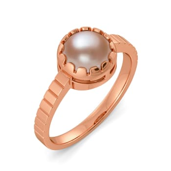 Play in Beige Gemstone Rings