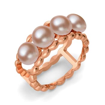 Think in Beige Gemstone Rings