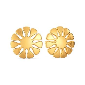 Knit Detail Gold Earrings