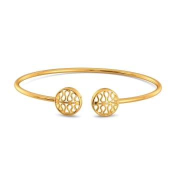 Ribbed Knits Gold Bangles