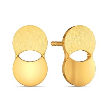 Power Sequins Gold Earrings