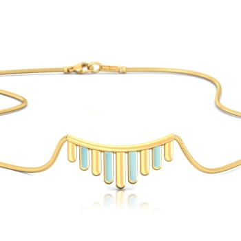 Barcode Gold Necklaces