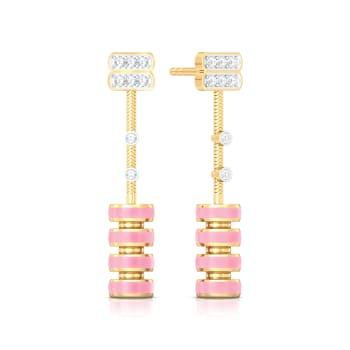 Chimes Effect Diamond Earrings