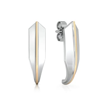 Knife edge  Gold Earrings