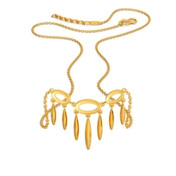 Binge on Fringe Gold Necklaces