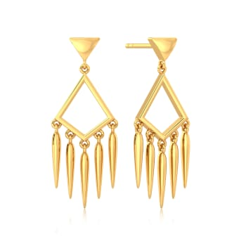 Fabulously Fringe Gold Earrings