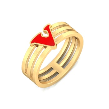 V for victory Gold Rings