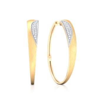 Shiny Shield Diamond Earrings