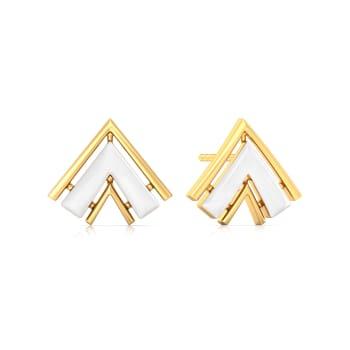 The Golden Chevron Gold Earrings