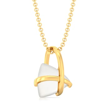 Ivory Edge Gemstone Pendants