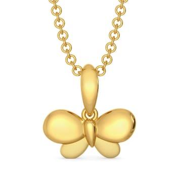 Flitter Flutter Gold Pendants