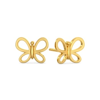 Butterfly Mystify Gold Earrings