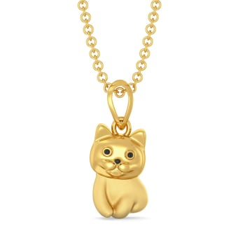 The Purrfect Portion Gold Pendants