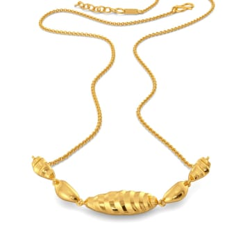 Stripe Hype Gold Necklaces