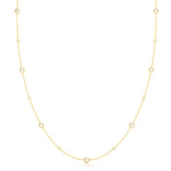 White Mist Gemstone Necklaces