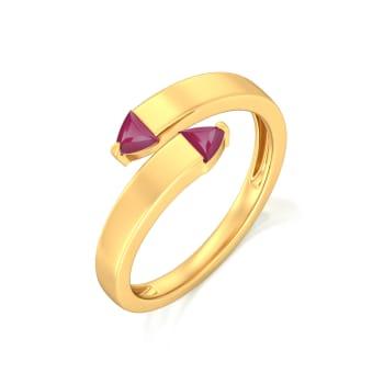 Sangria Twirl  Gemstone Rings