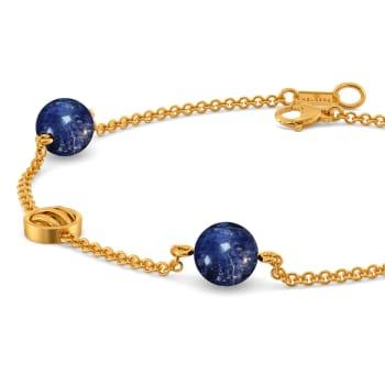 Dyed in Denim Gemstone Bracelets