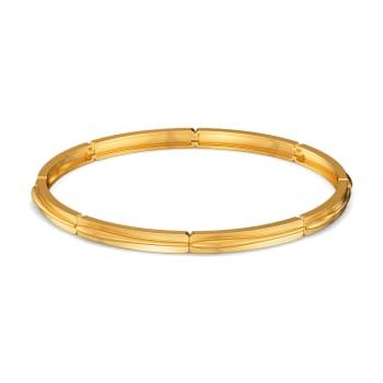 Sleek Suave Gold Bangles