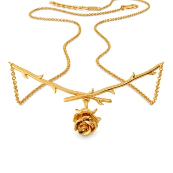 Rose Entwine Gold Necklaces