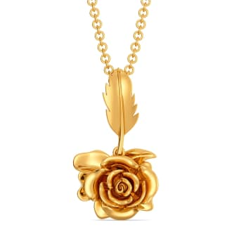Roses N Thorns Gold Pendants