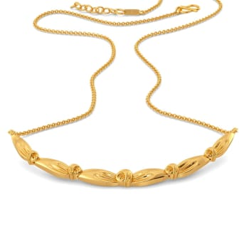 Knot Plot Gold Necklaces