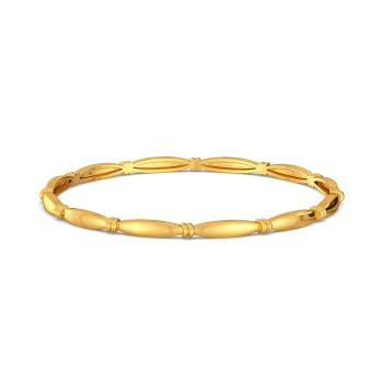 Curvy Accents Gold Bangles