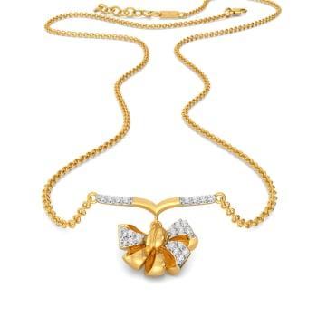 Bow Bouquet Diamond Necklaces