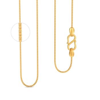 18kt Three Box Chain Gold Chains
