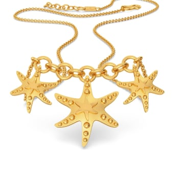 Star Shell Gold Necklaces