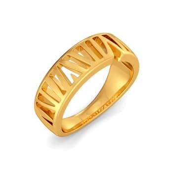 Rhomb Palm Gold Rings