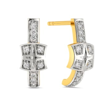 Plaids Up Beat Diamond Earrings