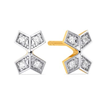 Plaid Pass Diamond Earrings