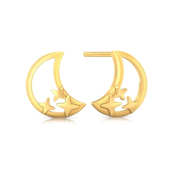 Cosmic Dance Gold Earrings