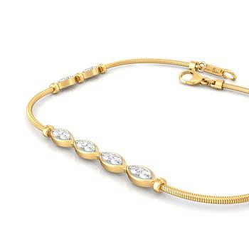 Leaves of Paradise Diamond Bracelets