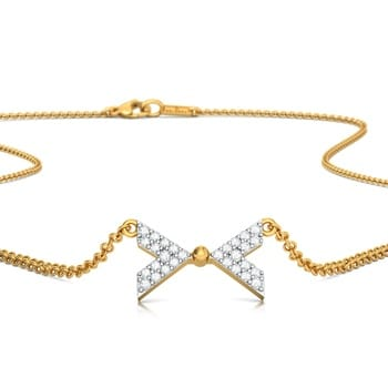 Bow Show Diamond Necklaces
