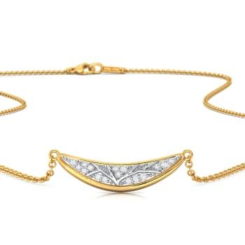 Pleasant Crescent  Diamond Necklaces