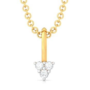Trio-fic  Diamond Pendants