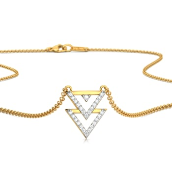 Trico Triangle Diamond Necklaces
