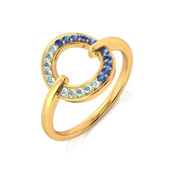 Denim Duo Gemstone Rings