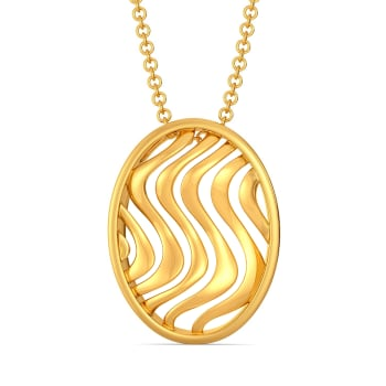 Frill Twill Gold Pendants