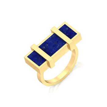 Cobalt Shots Gemstone Rings