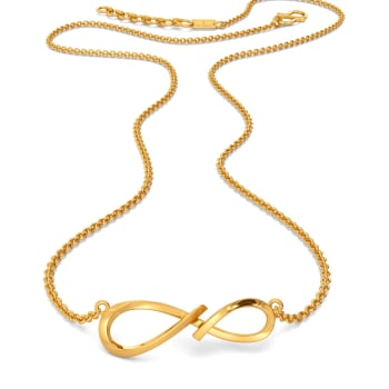 Simple Swirls Gold Necklaces
