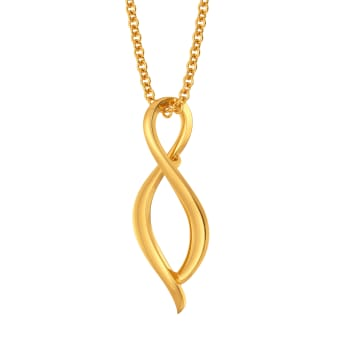 Flared Loops Gold Pendants