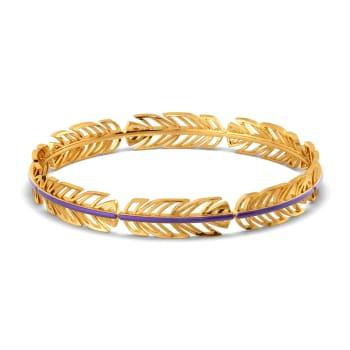 Violet Vibes Gold Bangles